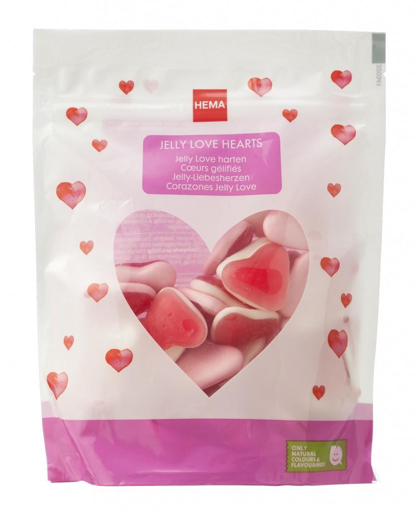 Hema Jelly Love hartjes €1,75