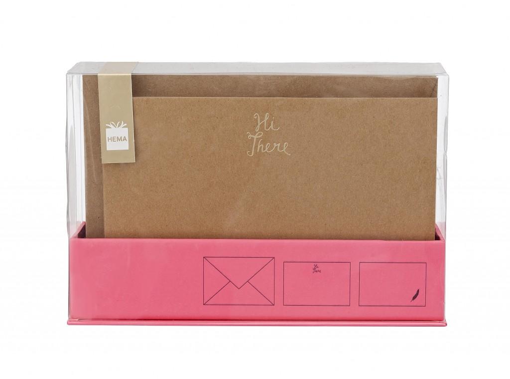 Hema Box met kraft notecar €3,-