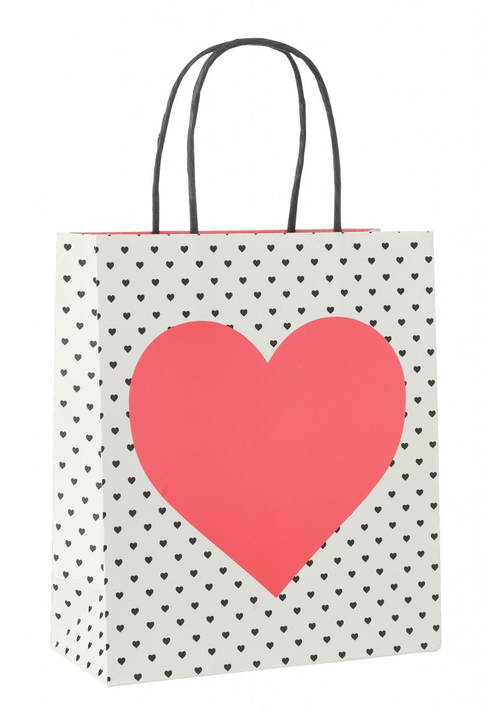 Hema Giftbag met hart €1,50