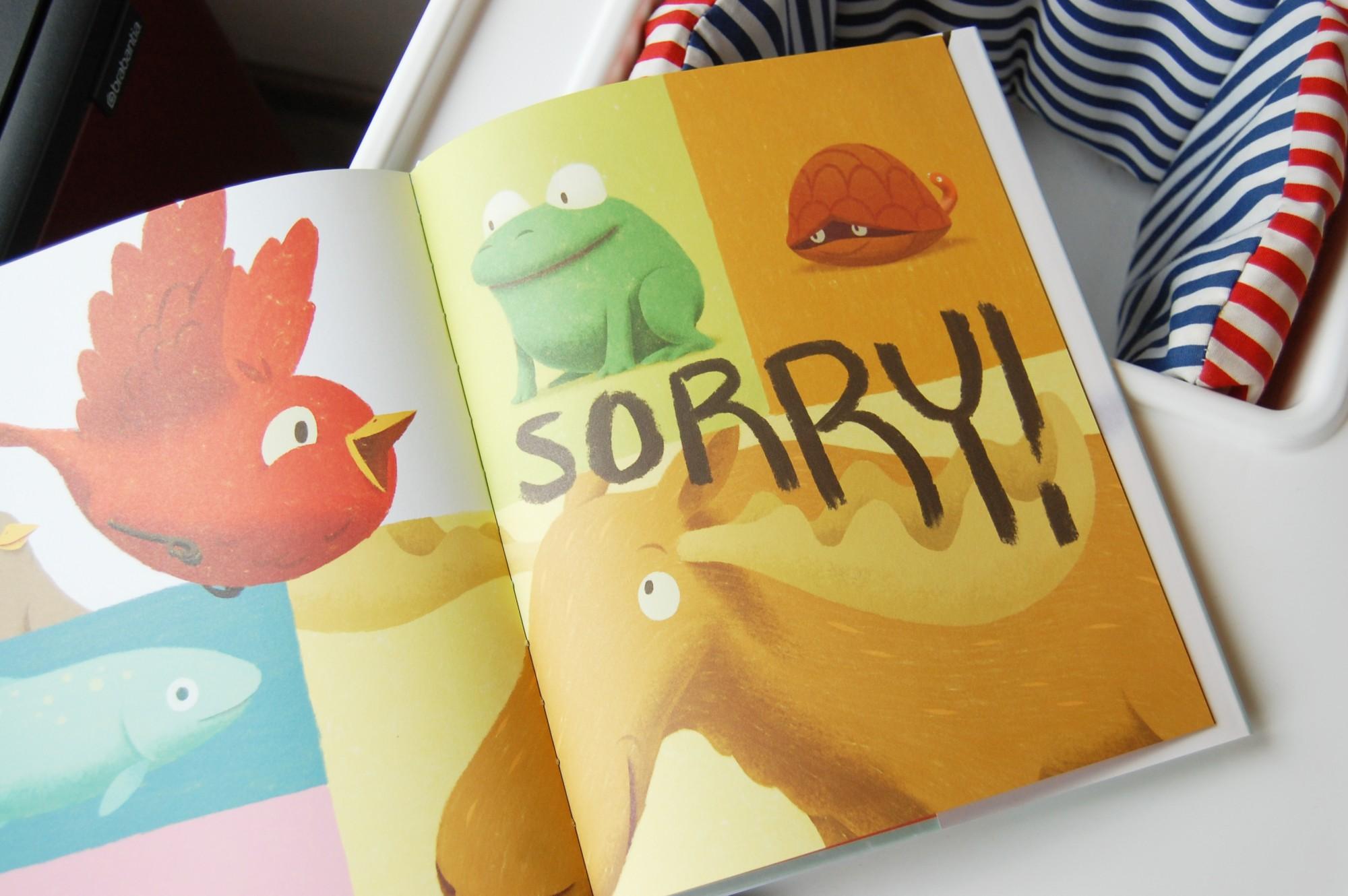 Kleine Vogel leert een stout woord